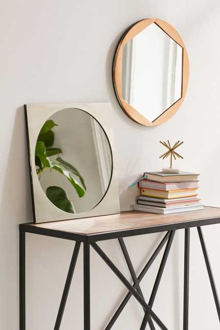 Metal Overlay Circle Mirror