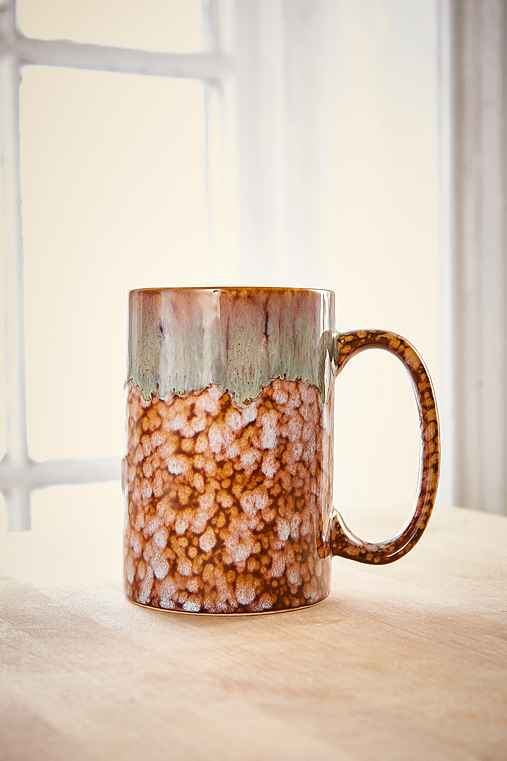 Speckled Slate Drip Mug,BROWN,ONE SIZE