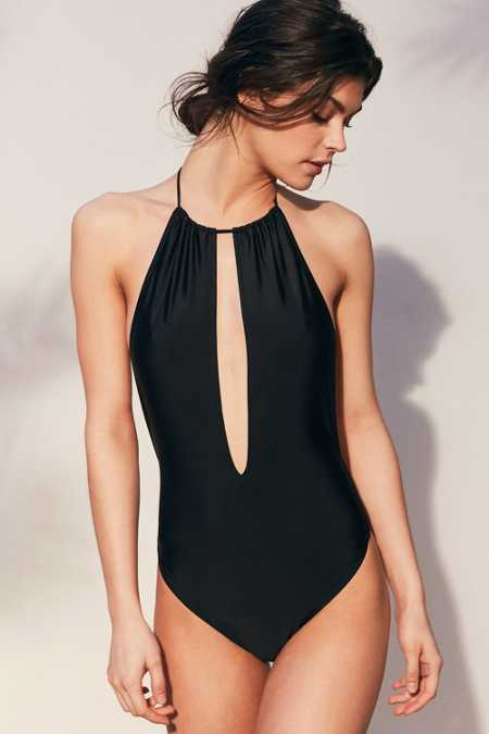 Motel Split One-Piece Swimsuit