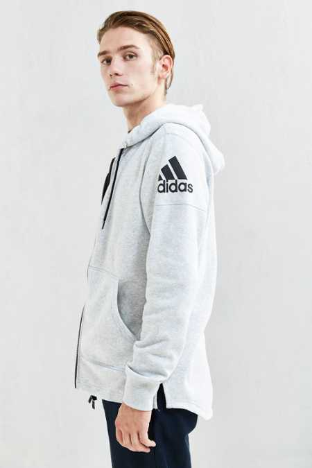 adidas Athletic Zip Hoodie Sweatshirt