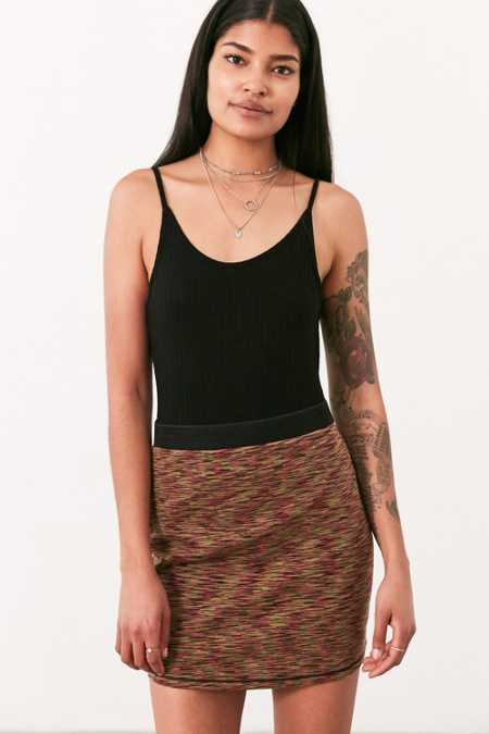 Silence + Noise Vivid Space-Dye Mini Skirt