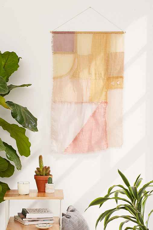 Dream Flag Wall Hanging,CORAL,32X22