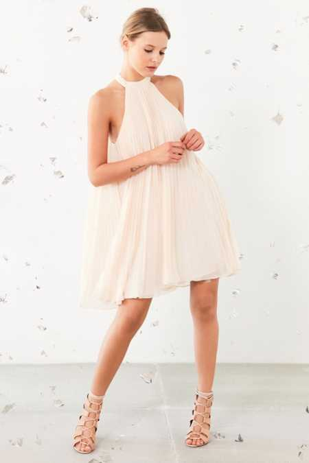 Keepsake Clarity Baby Pleat Mini Dress