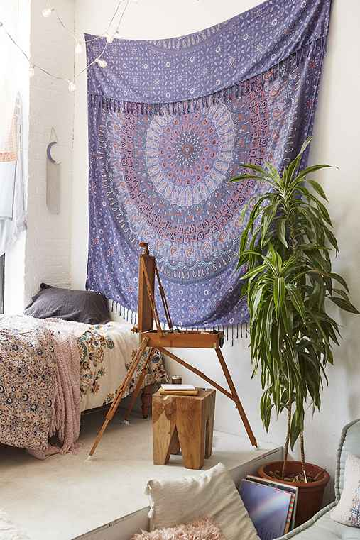 Maina Medallion Tapestry,BLUE,ONE SIZE