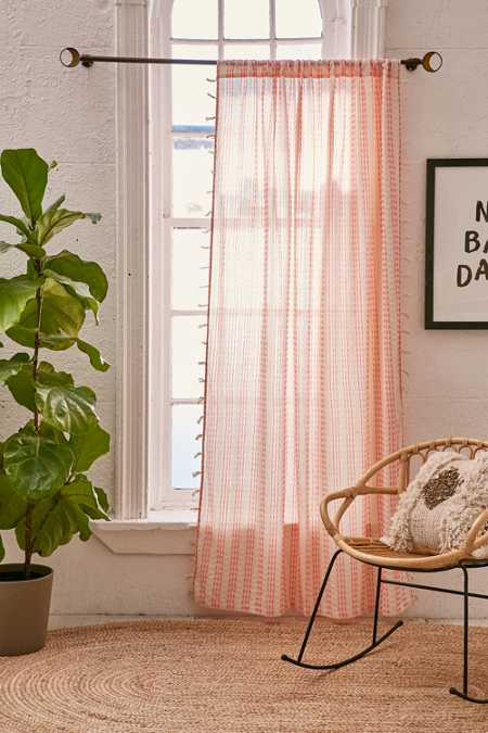 Malou Embroidered Stripes Curtain