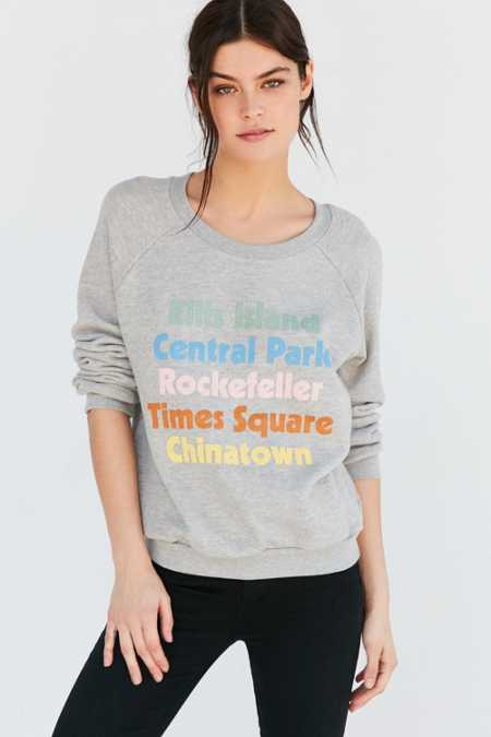 UO Souvenir NYC Neighborhoods Sweatshirt