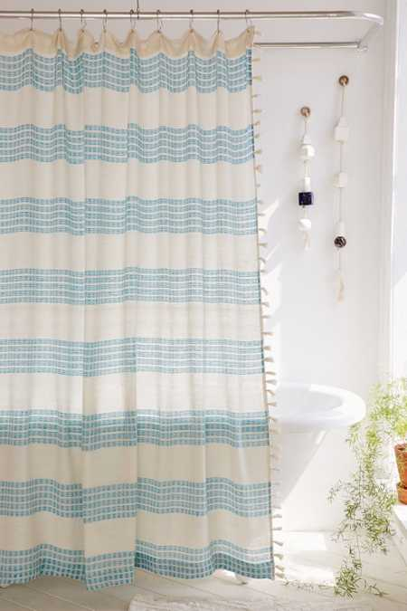 Isra Floating Weft Shower Curtain