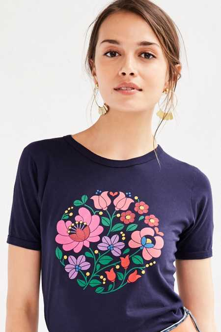 Truly Madly Deeply Floral Motif Tee