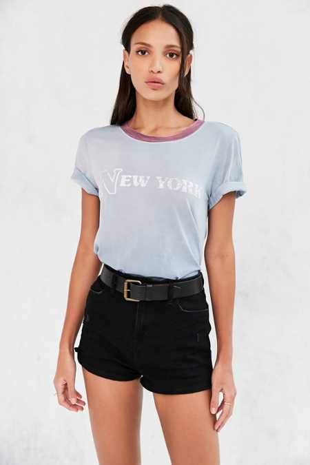 Truly Madly Deeply Destination Dip-Dye Ringer Tee