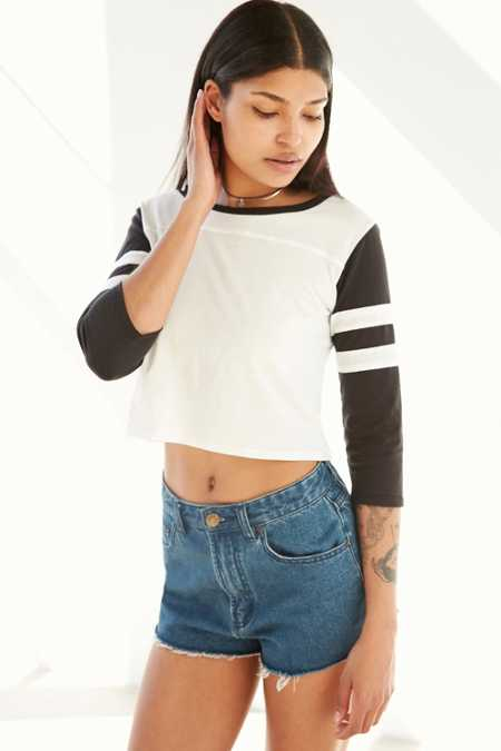 Corner Shop Cropped Rugby Tee