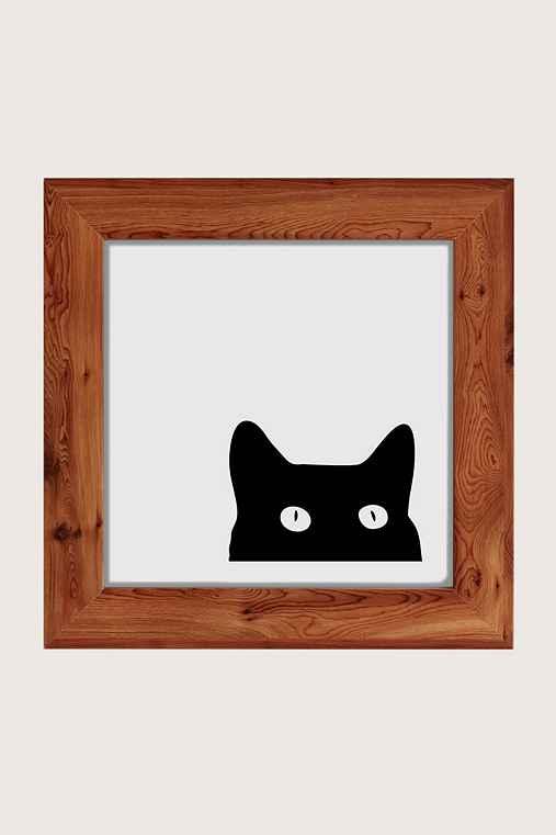 Shannon Lee Black Cat Art Print,CEDAR,12X12