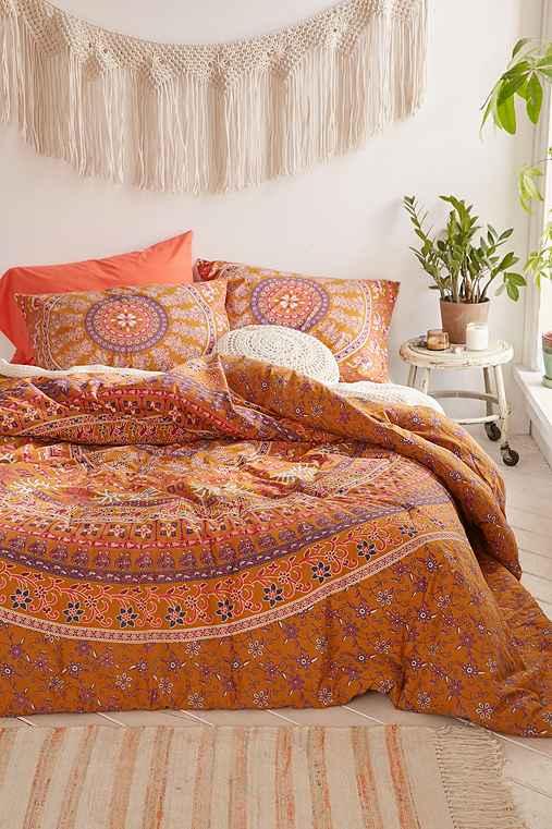 Jiya Medallion Comforter,MUSTARD,TWIN XL