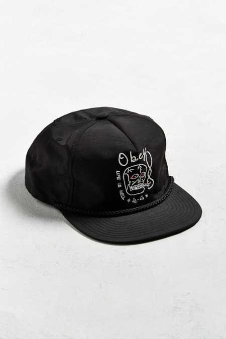 OBEY Life Is Hell Snapback Hat