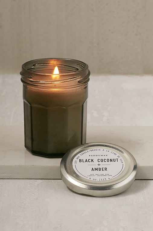 Paddywax Cafe Jar Candle,BLACK COCONUT + AMBER,ONE SIZE