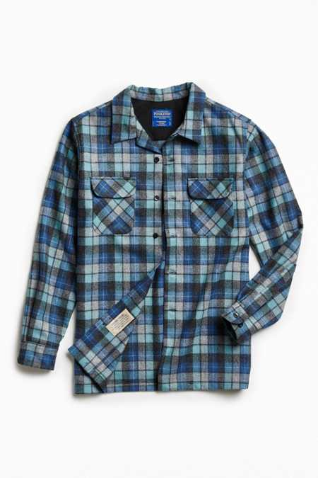 Pendleton Plaid Button-Down Shirt