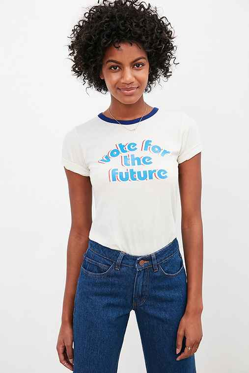 Truly Madly Deeply Vote Tee,WHITE,XS