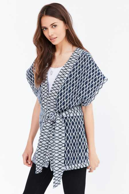 Ecote Quilted Seed Stitch Kimono