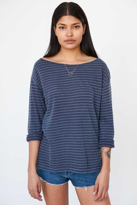 Truly Madly Deeply Jamie Striped Pullover Shirt