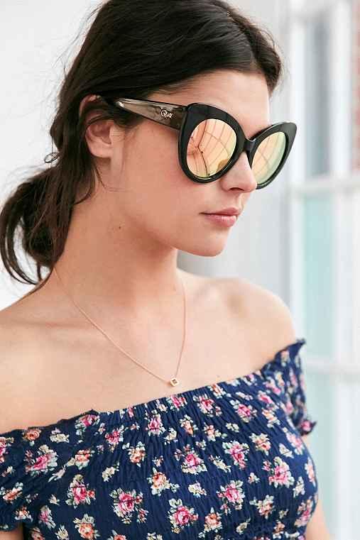 Quay Screamin' Diva Cat-Eye Sunglasses,BLACK MULTI,ONE SIZE