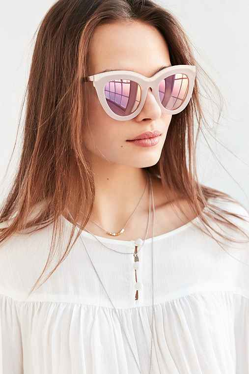 Quay Eclipse Sunglasses,PINK,ONE SIZE
