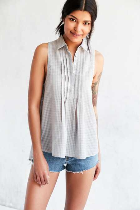 Silence + Noise Meena Button-Down Blouse