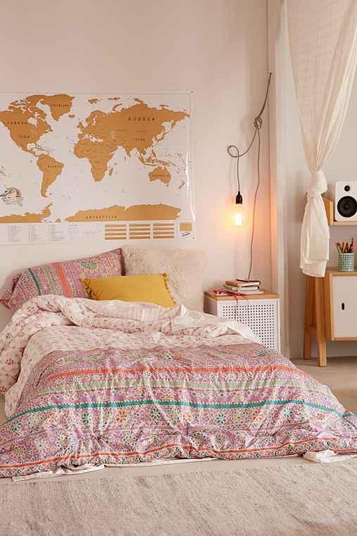 Nova Border Comforter Snooze Set,PINK,TWIN XL