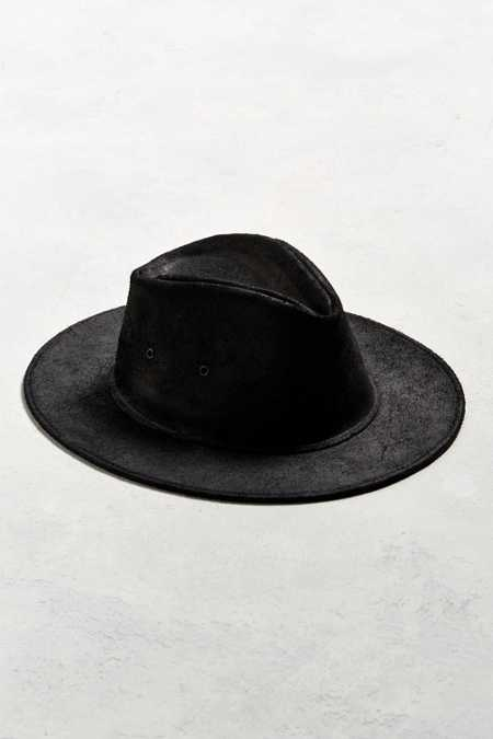 Henschel X UO Leather Fedora
