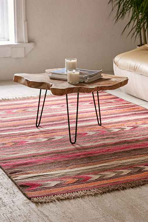 Staci Woven Wool Rug,PINK,3X5