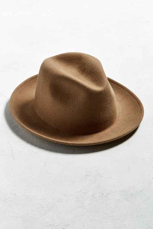 Coal Howell Crushable Fedora Hat,BROWN,M