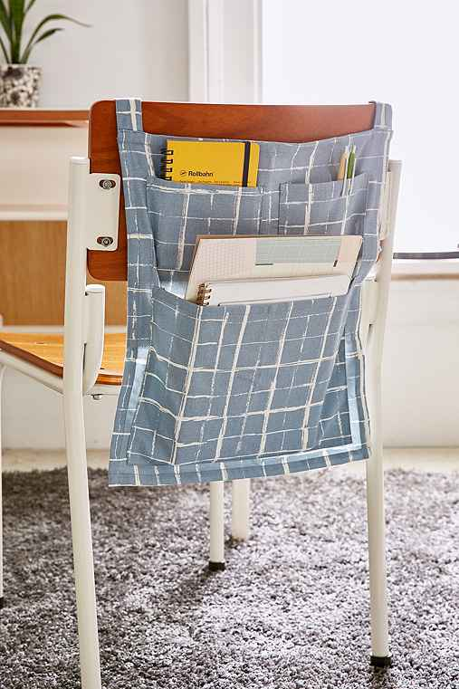 Over-The-Chair Gridlock Storage Pockets,BLUE,ONE SIZE