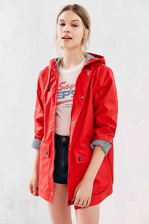 Petit Bateau Raincoat,RED,S