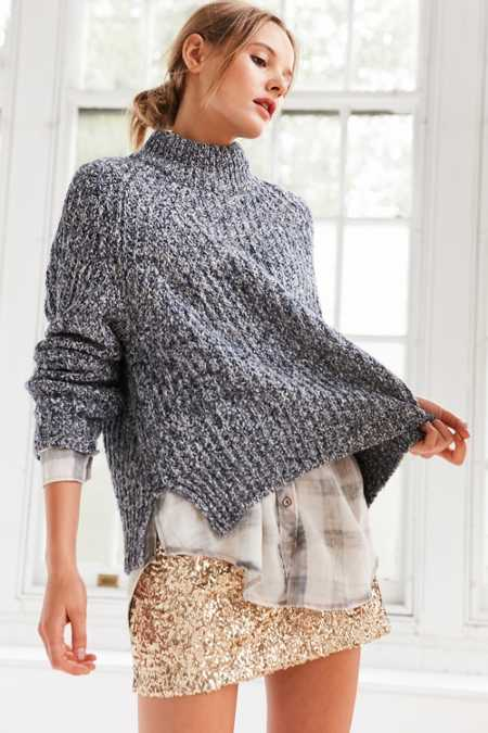 Silence + Noise Easton Mock Neck Sweater