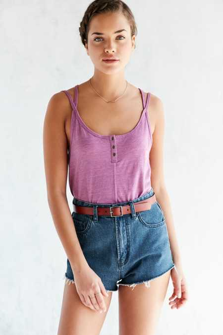 BDG Teeny Placket Tank Top