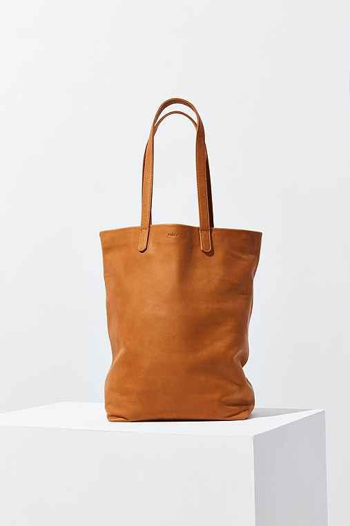 BAGGU Basic Tote Bag,BROWN,ONE SIZE