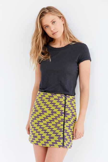 Silence + Noise Zig Zag Mini Skirt