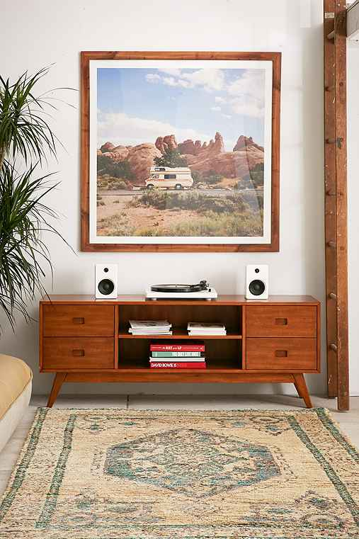 Micah Media Console,HONEY,ONE SIZE