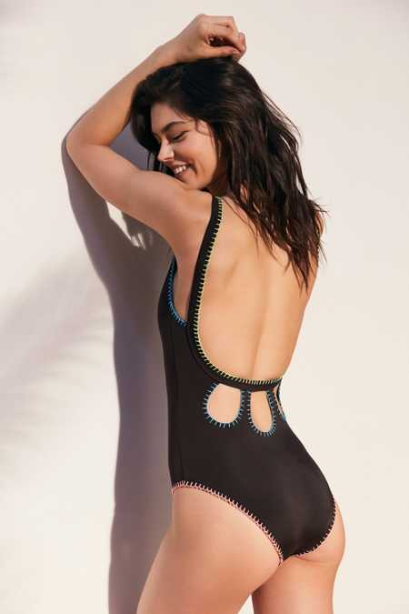 Out From Under Whip Stitch One-Piece Swimsuit