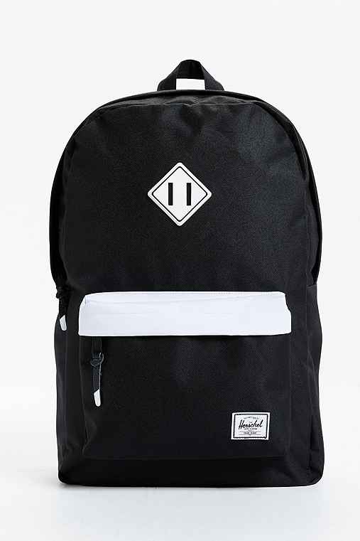 Herschel Supply Co. Heritage Backpack,BLACK & WHITE,ONE SIZE