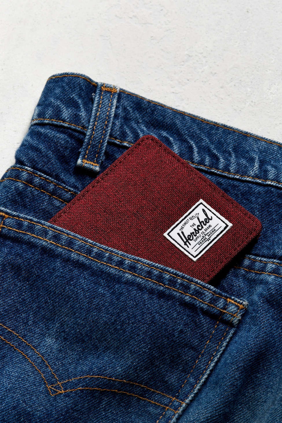 red classic men's wallet