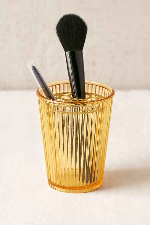 Ajoure Makeup Brush Organizer,YELLOW,ONE SIZE