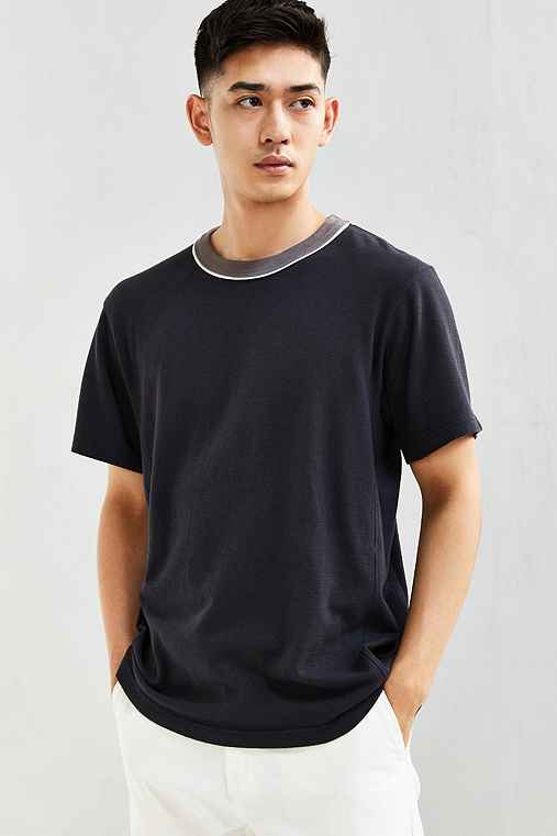CPO Cotton Mesh Ringer Tee,WASHED BLACK,XL