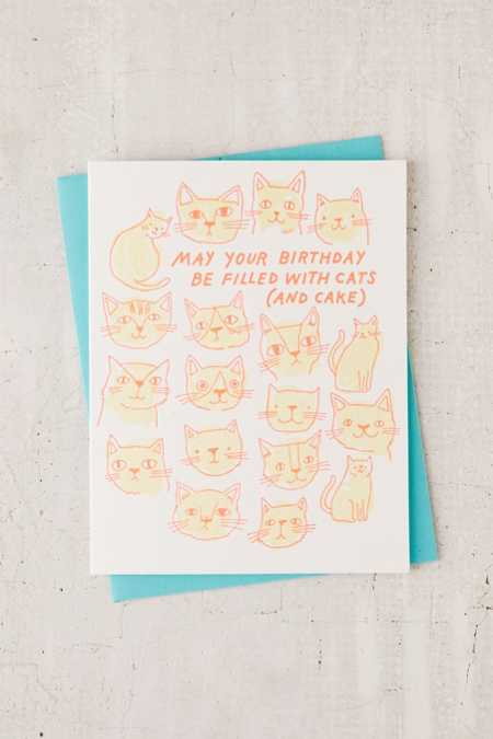 The Good Twin Co. Cats And Cake Birthday Card