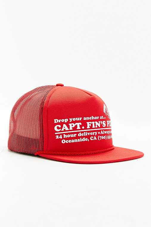 Captain Fin Pizza Trucker Hat,RED,ONE SIZE