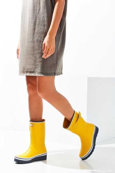 Hunter Original Buoy Stripe Short Wedge Rain Boot