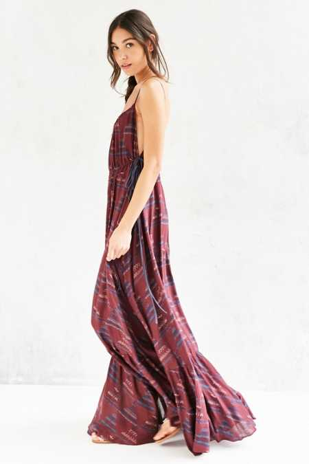 Ecote Triforce Tie-Side Maxi Dress