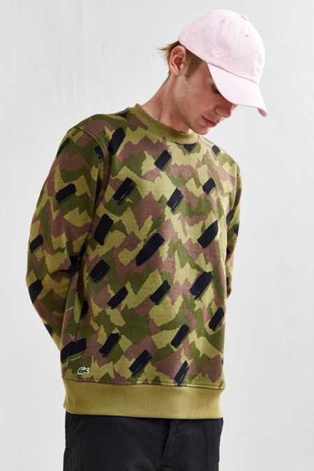 Lacoste Camo Fleece Crew Neck Sweatshirt