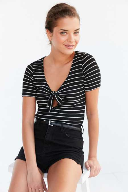 Project Social T Sara Tie-Front Top