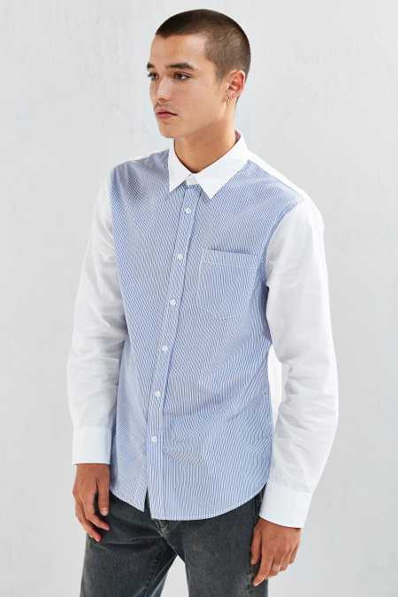 Stussy Striped Front Button-Down Shirt