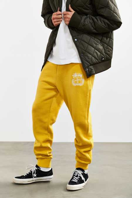 Stussy Emblem Applique Fleece Sweatpant