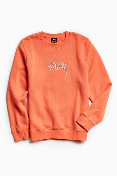 Stussy New Stock Embroidered Crew Neck Sweatshirt